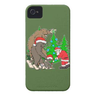 Bigfoot family  and Santa iPhone 4 Case