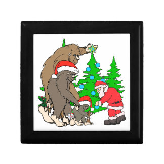 Bigfoot family  and Santa Keepsake Boxes