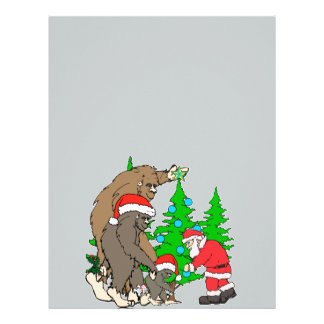 Bigfoot family  and Santa Letterhead