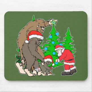 Bigfoot family  and Santa Mouse Pad