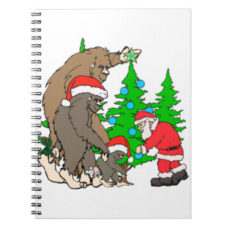 Bigfoot family  and Santa Notebooks
