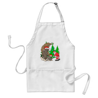 Bigfoot family  and Santa Standard Apron