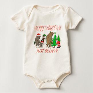 Bigfoot Family Christmas 2 Baby Bodysuit