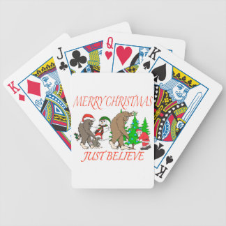 Bigfoot Family Christmas 2 Bicycle Playing Cards