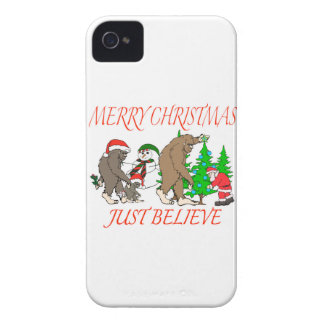 Bigfoot Family Christmas 2 Case-Mate iPhone 4 Case