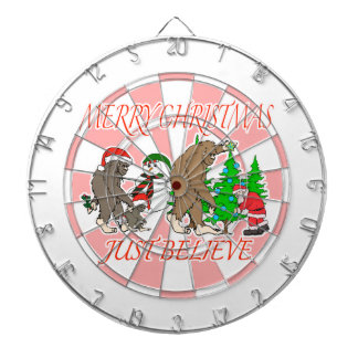 Bigfoot Family Christmas 2 Dartboard