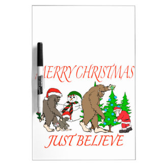 Bigfoot Family Christmas 2 Dry Erase Board