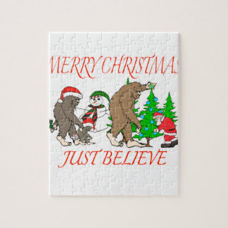 Bigfoot Family Christmas 2 Jigsaw Puzzle