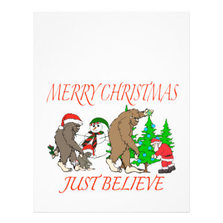 Bigfoot Family Christmas 2 Letterhead