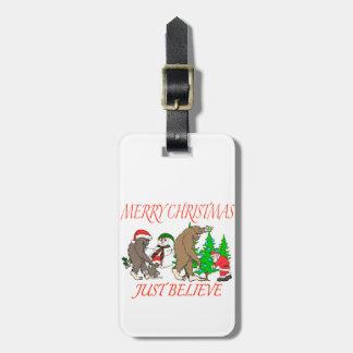 Bigfoot Family Christmas 2 Luggage Tag