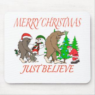 Bigfoot Family Christmas 2 Mouse Pad