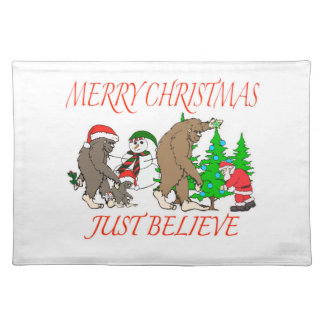 Bigfoot Family Christmas 2 Placemat