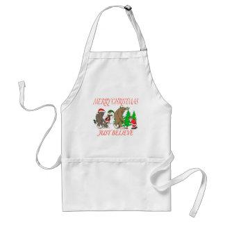 Bigfoot Family Christmas 2 Standard Apron