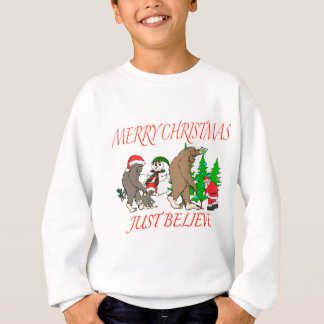 Bigfoot Family Christmas 2 Sweatshirt