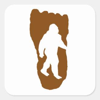 Bigfoot Footprint Square Sticker