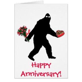 Bigfoot Happy Anniversary Card