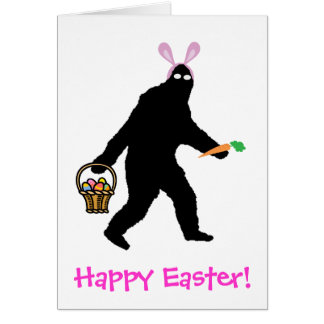 Bigfoot Happy Easter! Card