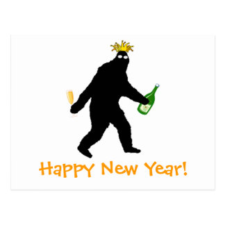 Bigfoot Happy New Year! Postcard
