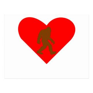 Bigfoot Heart Postcard