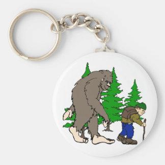 Bigfoot. hiker keychain