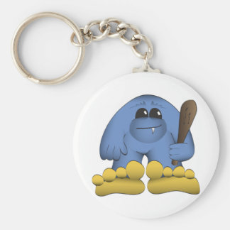 Bigfoot Holding Club Keychain