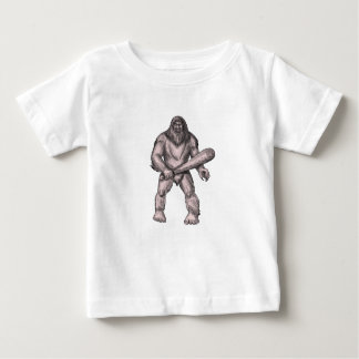 Bigfoot Holding Club Standing Tattoo Baby T-Shirt