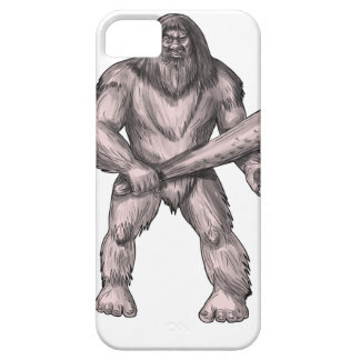 Bigfoot Holding Club Standing Tattoo Case For The iPhone 5