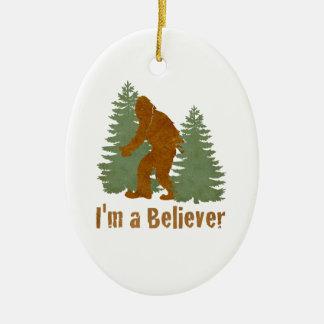 Bigfoot - I'm a Believer Ceramic Ornament