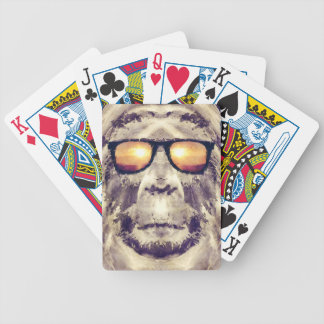 Bigfoot In Shades Bicycle Playing Cards
