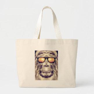 Bigfoot In Shades Large Tote Bag