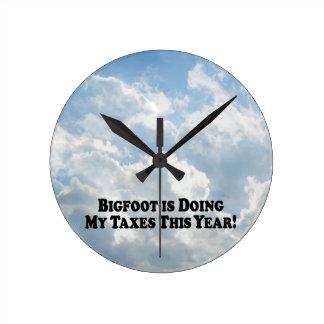 Bigfoot is Doing My Taxes - Basic Wall Clock