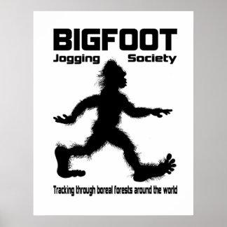Bigfoot Jogging Society Poster