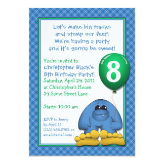 Bigfoot Kids Birthday Party Invitation