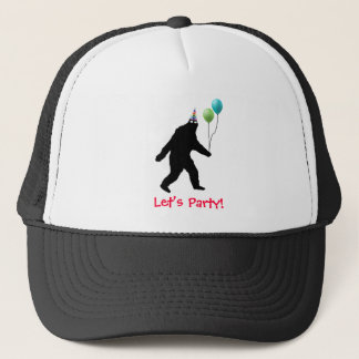 Bigfoot Let's Party Trucker Hat