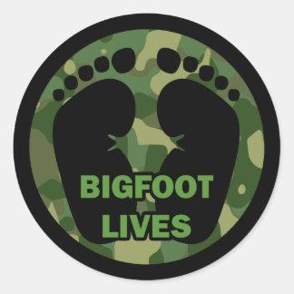 Bigfoot Lives Classic Round Sticker