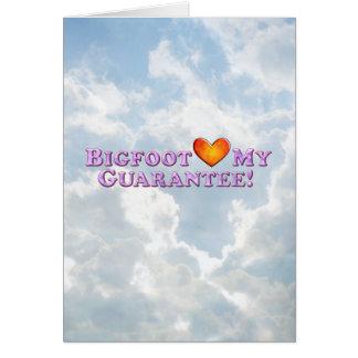 Bigfoot Loves My Guarentee - Basic Greeting Card