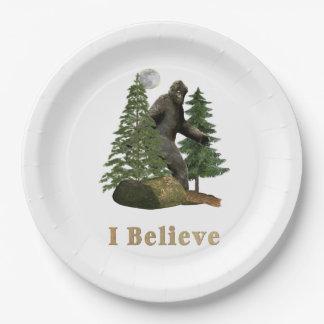 Bigfoot merchandise 9 inch paper plate