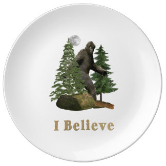 Bigfoot merchandise porcelain plate