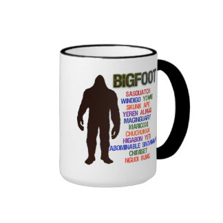 Bigfoot Names Ringer Coffee Mug