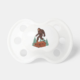 Bigfoot Paradise Baby Pacifier