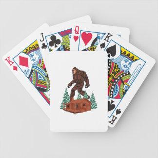 Bigfoot Paradise Bicycle Playing Cards