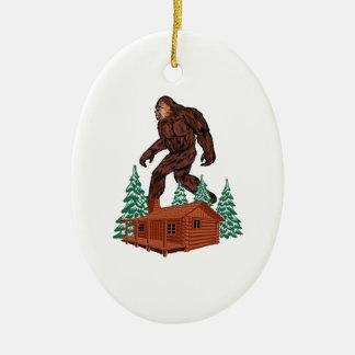 Bigfoot Paradise Ceramic Ornament