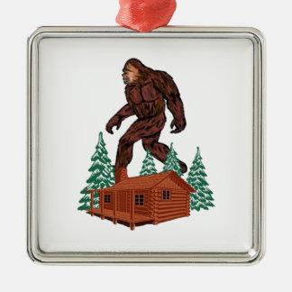 Bigfoot Paradise Metal Ornament