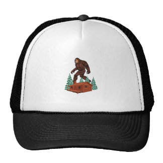 Bigfoot Paradise Trucker Hat