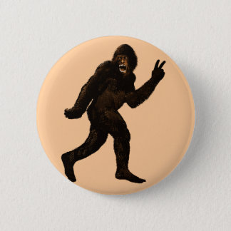 Bigfoot Peace 2 Inch Round Button