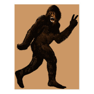 Bigfoot Peace Postcard