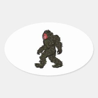 Bigfoot Pines Oval Sticker
