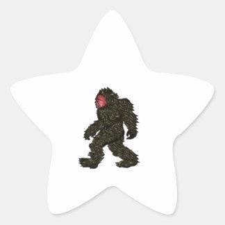 Bigfoot Pines Star Sticker