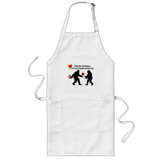 Bigfoot Remembers Valentine's Day Long Apron