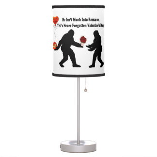 Bigfoot Remembers Valentine's Day Table Lamps